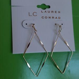 LC Lauren Conrad Gold Tone Geometric Earrings
